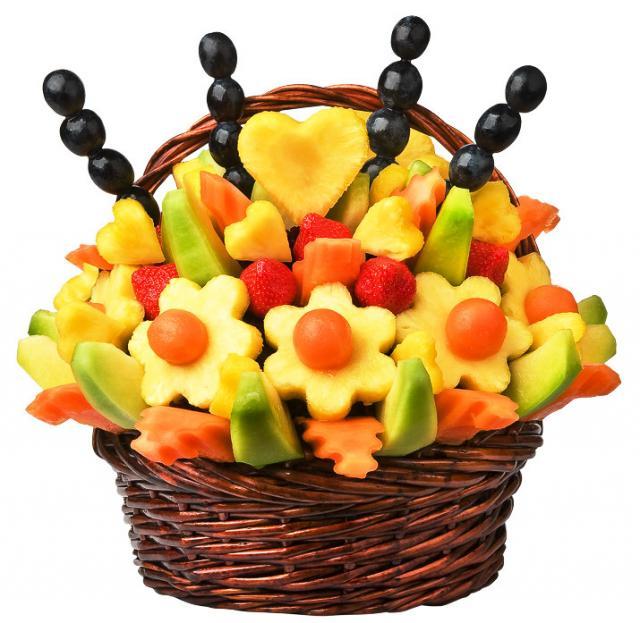 Корзинка с фруктами своими руками